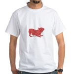 Red Word Silhouette (Play) White T-Shirt