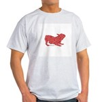 Red Word Silhouette (Play) Light T-Shirt