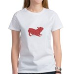 Red Word Silhouette (Play) Women's T-Shirt