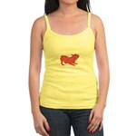 Red Word Silhouette (Play) Jr. Spaghetti Tank