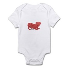 Red Word Silhouette (Play) Infant Bodysuit