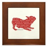 Red Word Silhouette (Play) Framed Tile