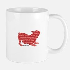 Red Word Silhouette (Play) Mug