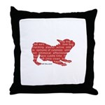 Red Word Silhouette (Play) Throw Pillow