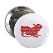 """Red Word Silhouette (Play) 2.25"""" Button"""