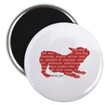 Red Word Silhouette (Play) Magnet