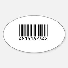 Barcode for 108 Oval Decal