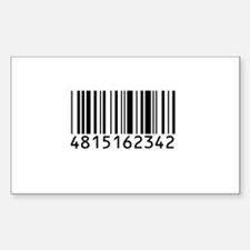 Barcode for 108 Rectangle Decal