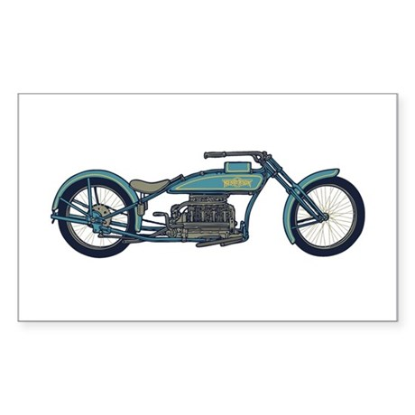 Antique Chopper II Rectangle Sticker