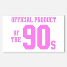 Official Product of the 90s ( Rectangle Decal