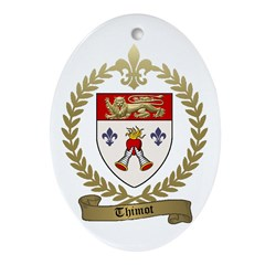 THIMOT Family Crest Oval Ornament