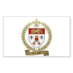 THIMOT Family Crest Rectangle Decal
