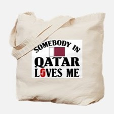 Somebody In Qatar Tote Bag