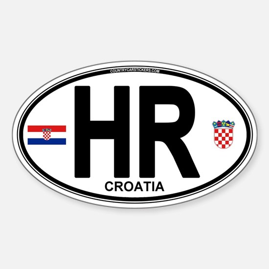 Croatia Euro Oval Sticker (Oval)