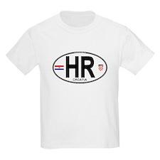 Croatia Euro Oval T-Shirt