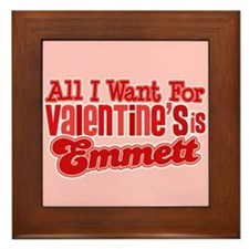 Emmett Valentine Framed Tile