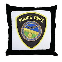 Steeleville Illinois Police D Throw Pillow