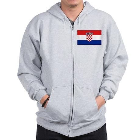 Croatian Flag Zip Hoodie