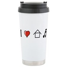 I Love House Music Travel Mug