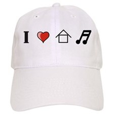 I Love House Music Baseball Cap