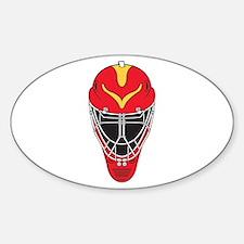 Hockey Mask Oval Decal