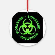Green Biohazard Ornament (Round)