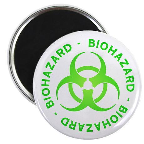"Green Biohazard 2.25"" Magnet (100 pack)"