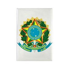 Brazil Coat of Arms Rectangle Magnet