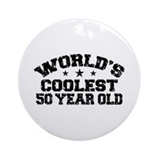 World's Coolest 50 Year Old Ornament (Round)