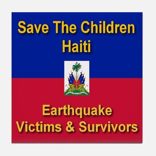 Save The Children Haiti Tile Coaster