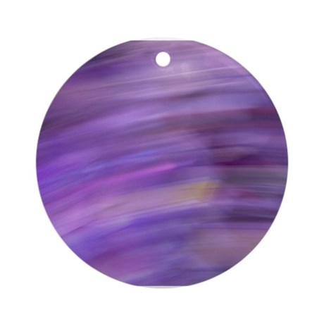Purple Blur Ornament (Round)