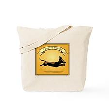 Flying Wiener Dog Tote Bag