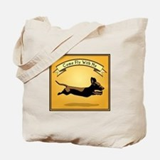 Flying Wiener Dog Tote Bag