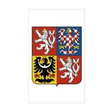 Czech Coat of Arms Rectangle Decal