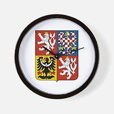 Czech Coat of Arms Wall Clock