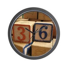 Unique Building blocks Wall Clock