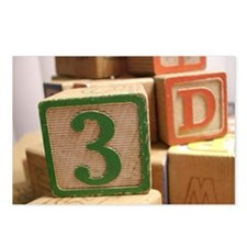 Cute Letters three Postcards (Package of 8)
