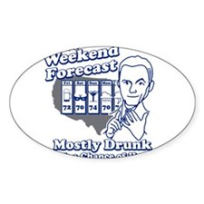 Weekend Forecast Oval Decal