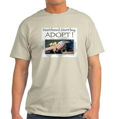 Ash Grey T-Shirt - Budgerigar