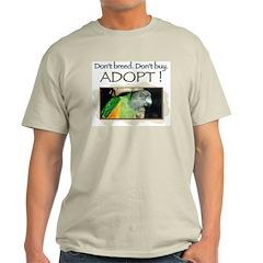 Ash Grey T-Shirt - Senegal Parrot