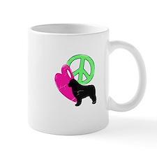 Peace Love & Newfies Mug