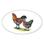 Ameraucana Poultry Oval Sticker (50 pk)