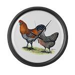 Ameraucana Poultry Large Wall Clock