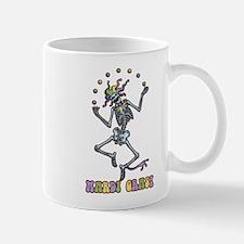 Juggling Jester Skeleton Mug