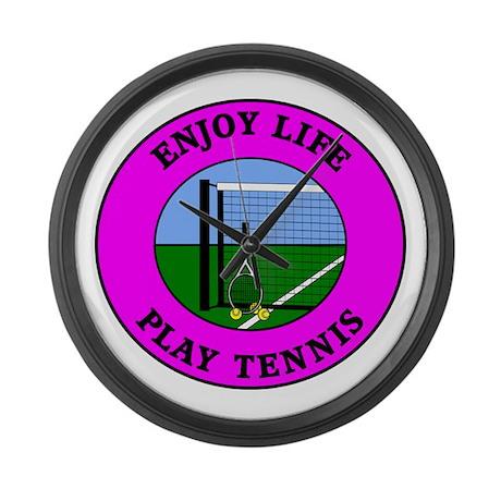Enjoy Life Play Tennis Large Wall Clock