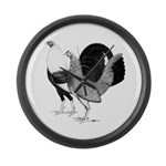 American Game Poultry Large Wall Clock