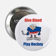 Give Blood, Play Hockey Button