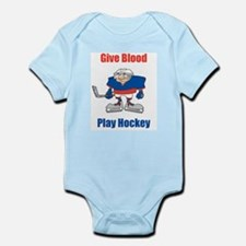 Give Blood, Play Hockey Infant Creeper