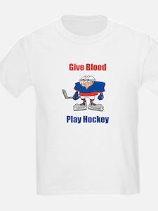 Give Blood, Play Hockey Kids T-Shirt