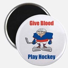 Give Blood, Play Hockey Magnet